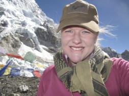 Happy. At Mt Everest Base Camp