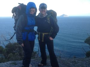 Kellie and KC hiking in Wilsons Promontory, VIC Australia